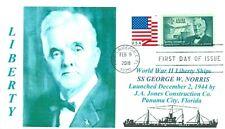 GEORGE W. NORRIS Ship named: Nebraska Politician, Blue Portrait First Day PM