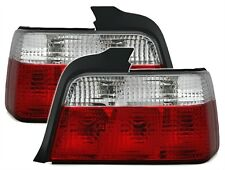 2 FEUX ARRIERE BMW SERIE 3 E36 BERLINE 1990-1998 325IS 325TD BLANC ROUGE CRISTAL
