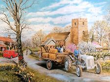 Frühlingszeit Village Ferguson TE20 Schön Bild Malerei Landschaft Poster