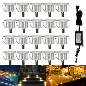 20Pcs 31mm Stainless Steel Outdoor Yard Landscape Driveway LED Deck Stair Lights