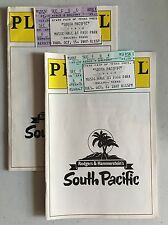 Lot of 2 Vintage South Pacific Playbills with Ticket Stub 1987 Robert Goulet