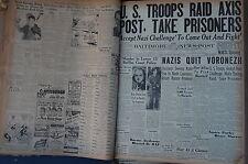WW2 NEWSPAPER January 25 1943 Nazis Quit Voronezh Russ Sweep Aside Foe BNP NWS