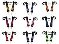 """Glitter Upside-Down WITCH LEGS Halloween Cake Topper 5.5"""" Tall Choose Color"""