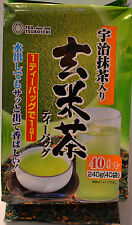 Japanese Tsuboichi Genmai Cha Brown Rice Green Tea 40 Tea Bags 240g - US Seller