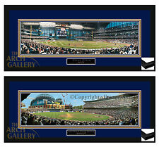 Miller Park & County Stadium Panoramic  Pictures Triple Matted & Custom Framed