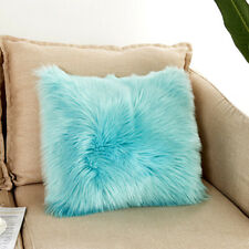 Comfortable Home Sofa Couch Chair Fluffy Pilllow Case Soft Faux Fur Pillow Cover