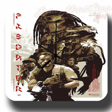 Predator 1987 Sci Fi FILM MOVIE VINTAGE RETRO  METAL TIN SIGN WALL CLOCK