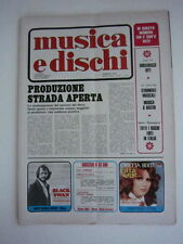Musica Dischi 1972  Rivista Mina Premata Forneria Marconi LP Orietta Berti Colli