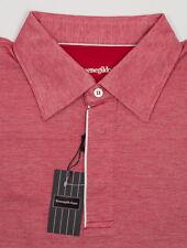 New Ermenegildo Zegna Red Polo Size XXL