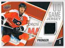 2011-12 UPPER DECK UD GAME JERSEY CHRIS PRONGER JERSEY 1 COLOR GROUPF