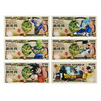 5pcs Dragon Ball Z Goku Plastic Banknotes Japan 100 Million Yen Novelty Bill
