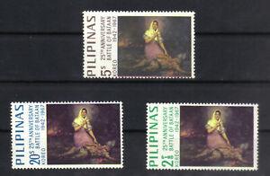 PHILIPPINES 1967 25th ANNIVERSARY BATTLE OF BATAAN SET OF 3 MNH SG1040 Sc 966