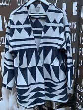 Ladies ASOS Cardigan Coatigan Tribal Kimono Style Pattered Medium UK 12 Chest 38