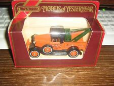 MATCHBOX MODELS OF YESTERYEAR COLLECTION - Y-7 1930 MODEL A FORD WRECK TRUCK
