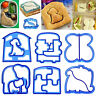 Food Molds Sandwich Cutters for Kids Large Cookie Shape Cutter Bread Toast Anima