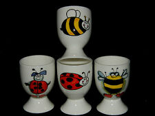 BN Cute Personalised Fine Bone China Single Boxed Egg Cup Ladybirdy Bee Design