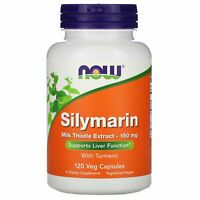 Now Foods Silymarin Milk Thistle Extract 150 mg 120 Veg Capsules GMP Quality