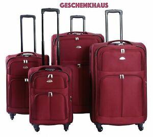 Koffer Stoff Stoffkoffer Trolleys Kofferset Reisekoffer Weichschalen M L XL XXL