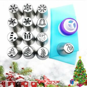 Xmas Flower Frosting Tip Russian Piping Tips Cake Decorating Tips Baking Tools