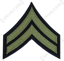 Corporal Stripes Badge Olive - WW2 Repro American Rank Patch Badge Army CPL New