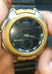 Casio World Time 5Alarm Auto Light Japan Made AQ-160 FORPART/REPAIR/WATCHMAKER.