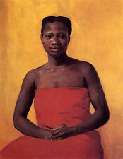 Nice Oil painting Félix Vallotton - Seated Black Woman, Front View nice figure