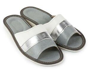 Great polish women handmade slippers,mules blue silver 4,5-7, 37-41 (Pantoffeln)