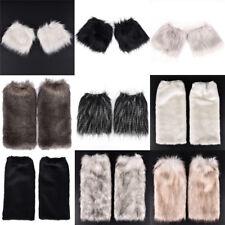 Lady Women Fluffy Fuzzy Faux Fur Fashion Dance Leg Warmers Muffs Boot Cover SEAU