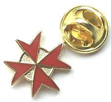 Knights of Malta Masonic Freemason Red Enamel Lapel Pin Badge *Reduced Price*