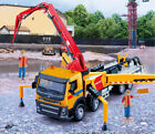 1:50 Volvo FM Concrete Pump Truck Diecast Model Toys Car Gifts with 2 Workers
