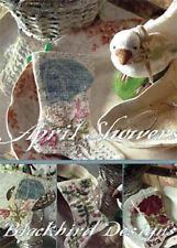 April Showers Set of 3 Stocking Ornament Blackbird Designs Pattern