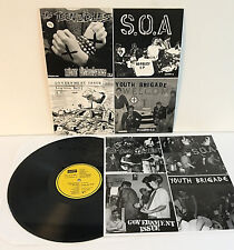 TEEN IDLES , GOVERNMENT ISSUE , S.O.A.  YOUTH BRIGADE compilation LP Record PUNK