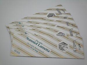 Lametta 5 x 25g echtes Staniol Lametta 55cm Pack NEU und OVP