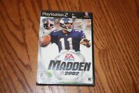 Madden NFL 2002 (Sony PlayStation 2, 2001) Brand New Factory sealed