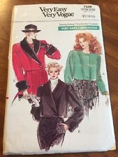 Very Easy Vogue Sewing Pattern 7336 Half Size Jacket UNCUT 12-14-16