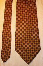 Brooks brothers 346 pure silk gold maroon geometric men's dress tie