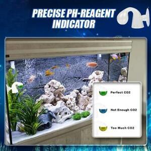 NEW CO2 Glass Drop Checker - Aquarium Real time Solution Indicator Liquid  U7YT