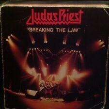 "Judas Priest – Breaking The Law/Metal Gods 7"" Vinyl Heavy Metal CBS Rock 1980"