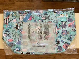 Vera Bradley PAISLEY WAVE FISH Drawstring Family Tote Beach Bag Reactive EXACT C