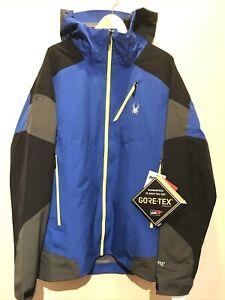 Spyder GORE-TEX PRO Shell Jacket Eiger Blue XXL 56 ski snow men $600