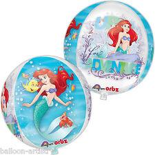 "16 ""Disney Princess Ariel Sirenetta partito Globe ORB BALL Shape Foil Balloon"