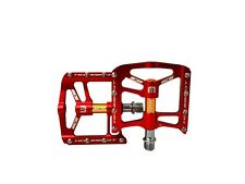Flat pedals ICE Hole-shot BMX ,MTB PEDALS RED 9/16