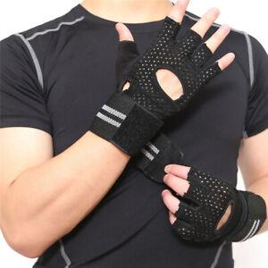 Men Women Fitness Sports Half-Finger Gloves Yoga Gym Weightlifting Gloves P3