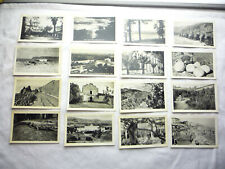 1930s Souvenir Mini Photos -16 Scenic CAL Views,  San Diego, Long Beach, & More!