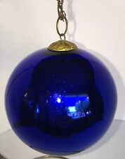 "1920s Vintage Early Deep Blue Glass  4.25"" Christmas Kugel Ornament Germany -A+"