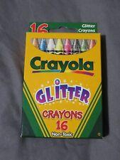 "Brand New Vintage Crayola Crayons Unused 16 Ct. Box Original ""Glitter"" Year 2000"