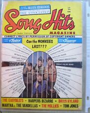 SONG HITS Magazine 1967 MONKEES Blues Magoos HOLLIES Easybeats MARTHA Vandellas
