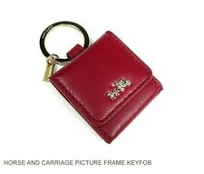 Coach horse and carriage leather picture frame keyfob F63073 Li Red Currant