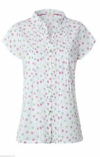 Blouse Cap Sleeve Collared Floral Tops & Shirts for Women