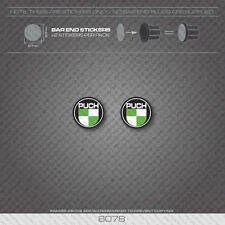 6078 - Puch Bicycle Handlebar Bar End Plug Stickers - Decals